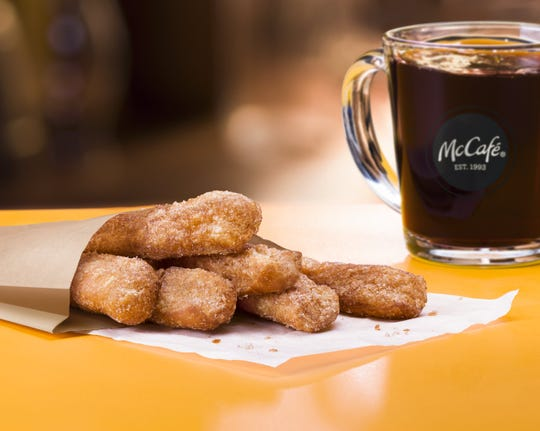 McDonald's is launching McCafé Donuts Sticks on Feb. 20.