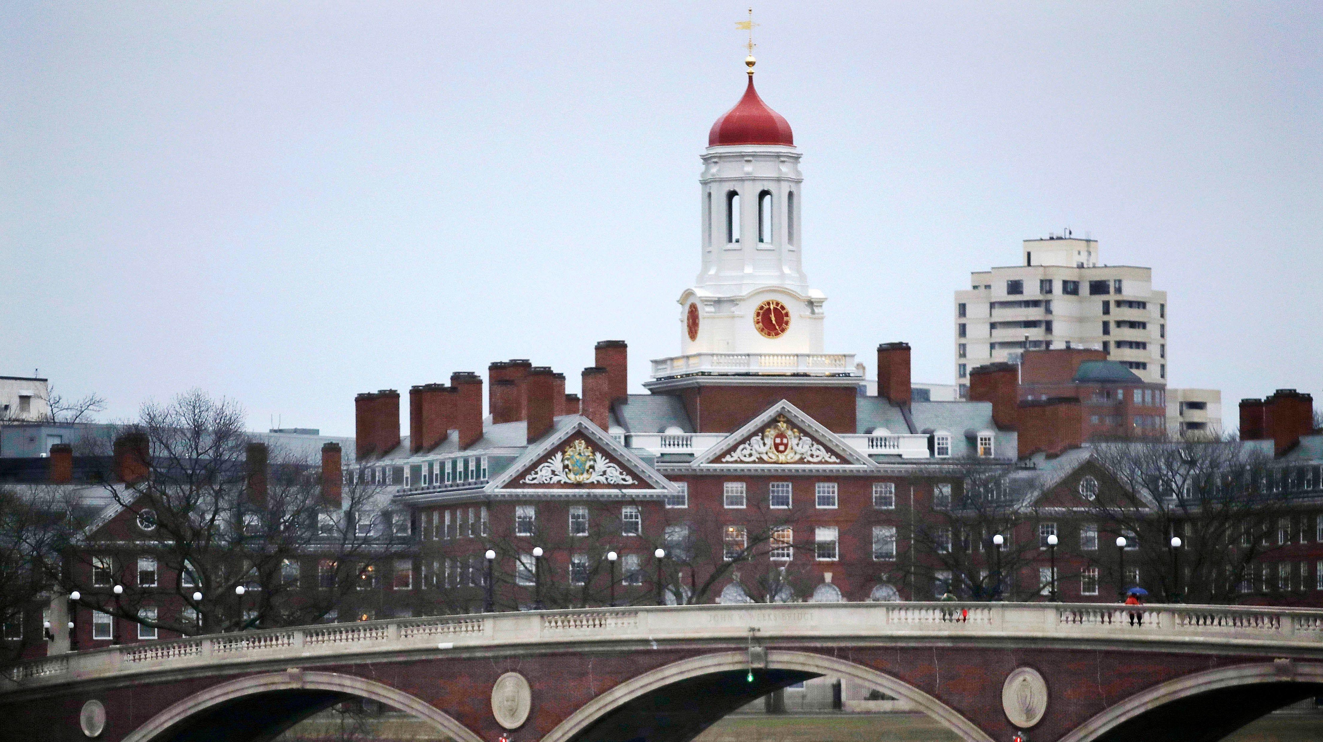 Harvard College campus in Cambridge, Massachusetts.