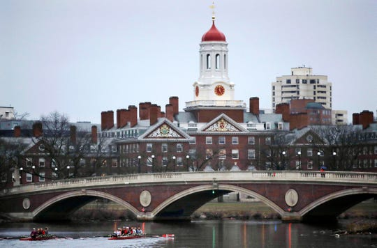 Harvard College campus in Cambridge, Massachusetts.