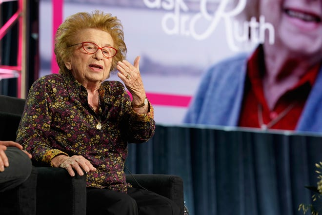 Dr. Ruth Westheimer speaks about the upcoming Hulu documentary, 'Ask Dr. Ruth,' at Television Critics Association panel Monday.