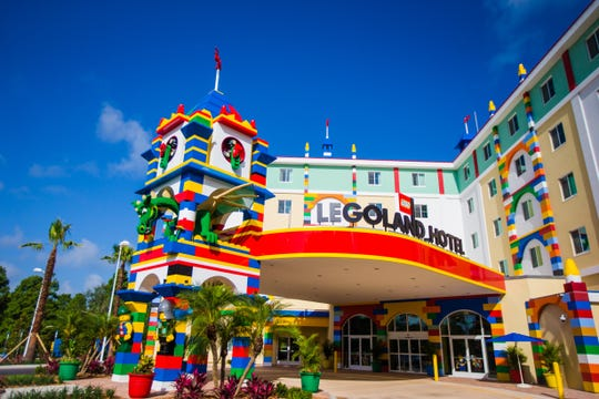 The 152-room Legoland Hotel in Florida primes visitors for a Lego-centric experience.