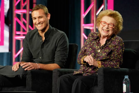 Ryan White, left, directs 'Ask Dr. Ruth,' a May 10 Hulu documentary focusing on the life of Dr. Ruth Westheimer.