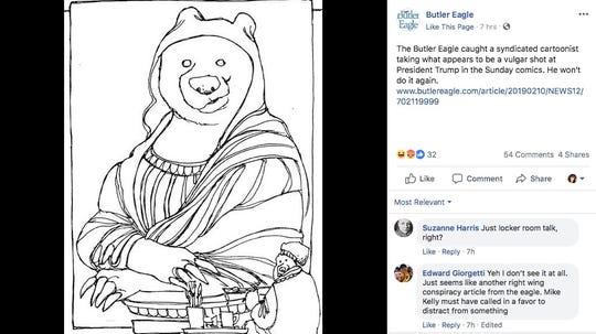 A Butler Eagle reader found a seemingly vuglar comment hidden in a Non Sequitur cartoon by Wiley Miller.