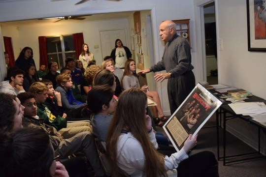 Rabbi Arnold Task speaks about the Holocaust at BrainSurge in 2016.