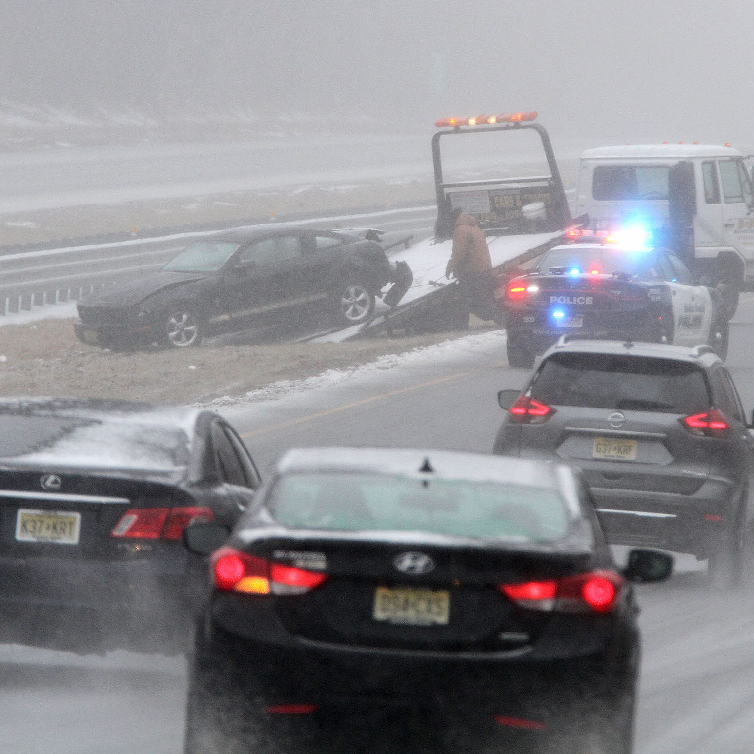 NJ weather: Latest traffic updates as wintry mix spawns accidents, delays