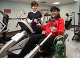 Keyport's Dawn Burke, who has been waiting for a lung transplant for 18 months, stays fit at Monmouth Medical Center.