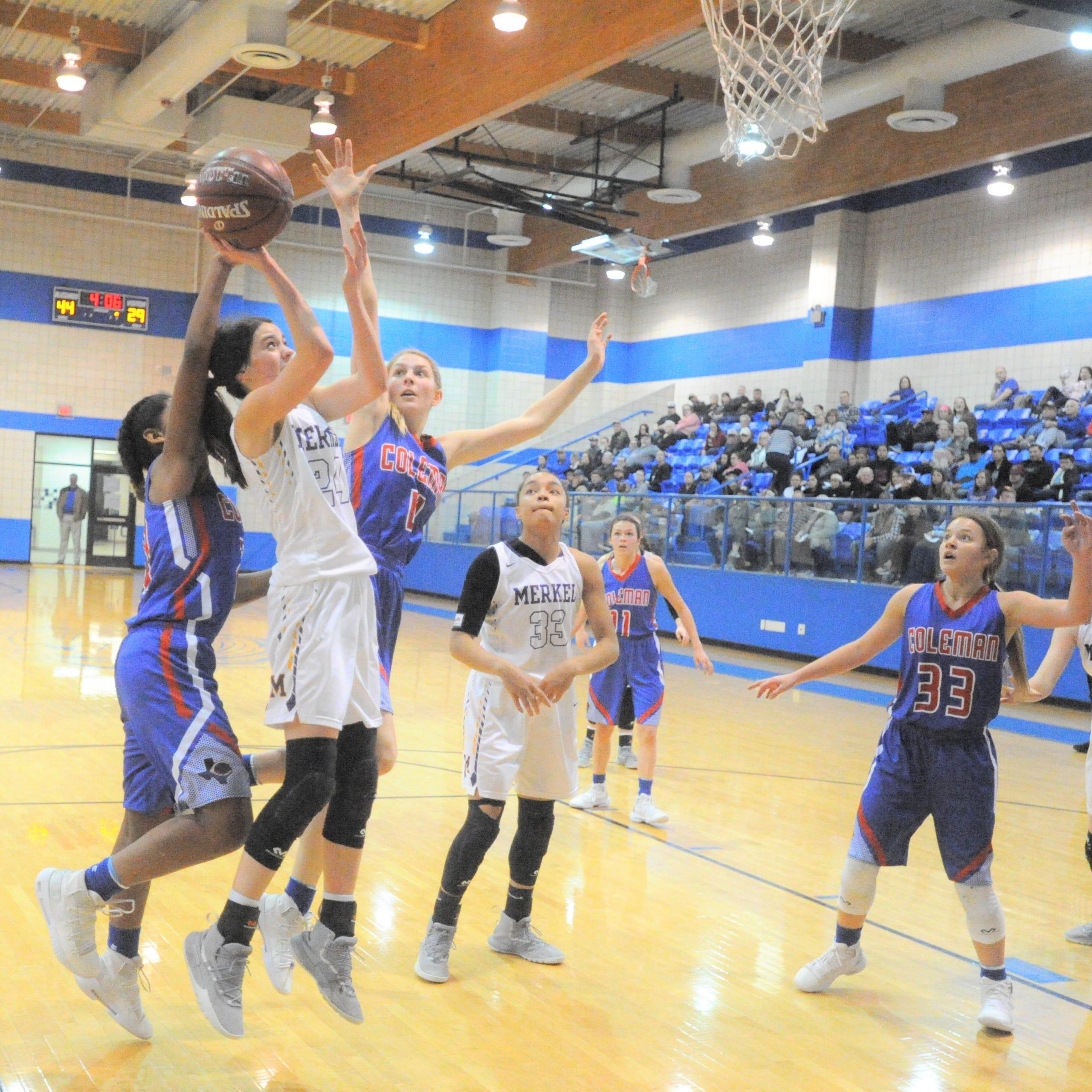 Second quarter gets Merkel girls basketball team on track in bi-district win over Coleman