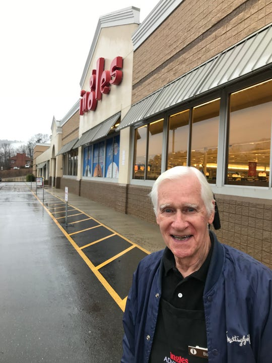 Bob Caldwell works two days a week at the Merrimon Ingles.