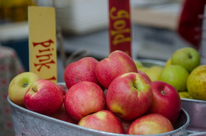 Apples from Creasman Farms at Asheville City Market.