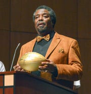 Tony McGee, who returned to his alma mater Battle Creek Central last year to present an NFL Golden Football, recently was part of a Black History Month event at the University of Wyoming to talk about his part in the 'Black 14' scandal.