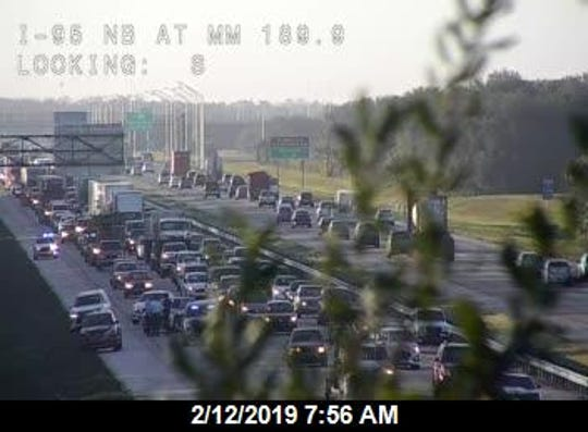 A crash on I-95 near Viera is blocking northbound lanes.