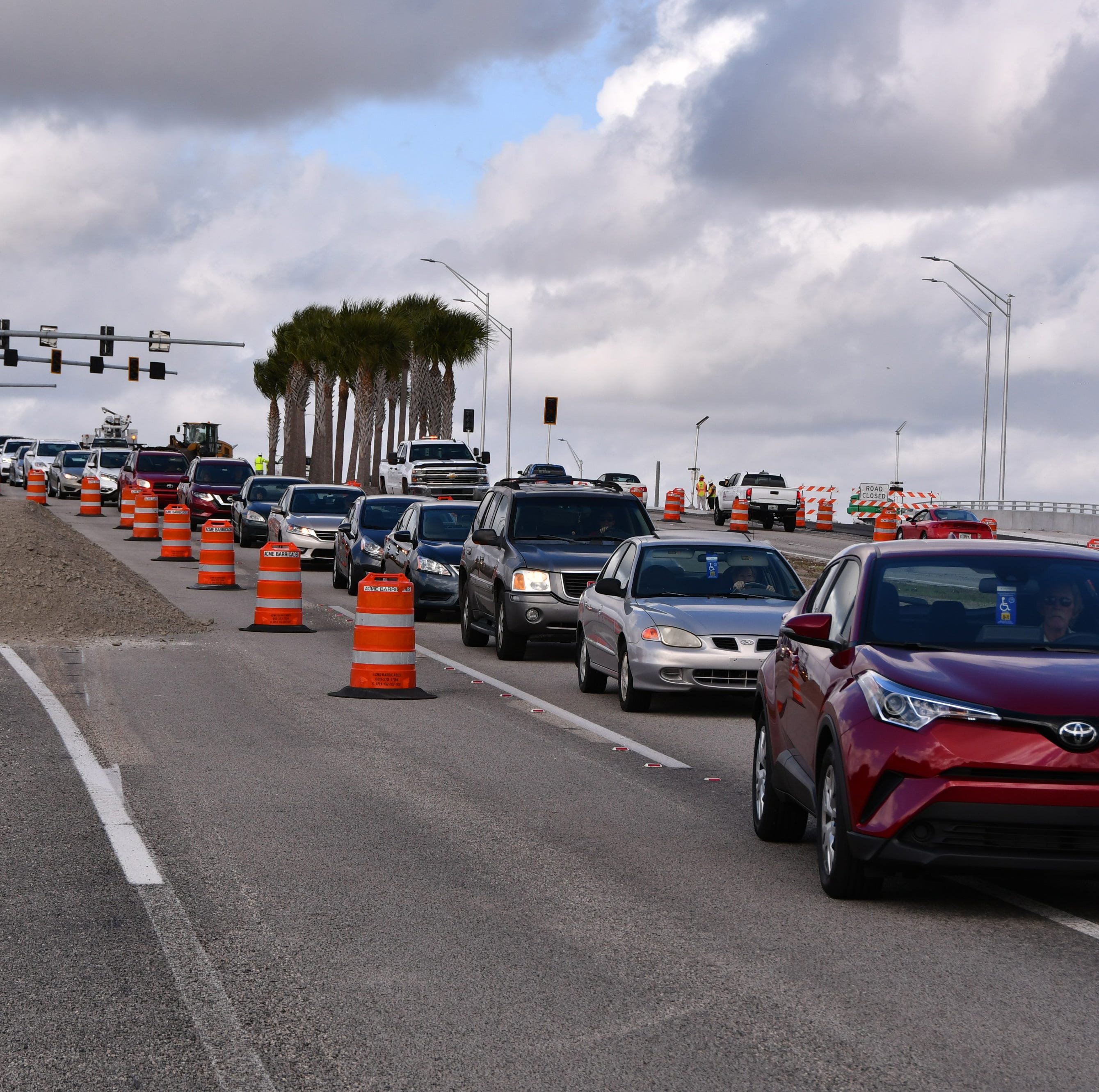 Viera diverging diamond triggers traffic tie-ups; FDOT to open all lanes within two weeks