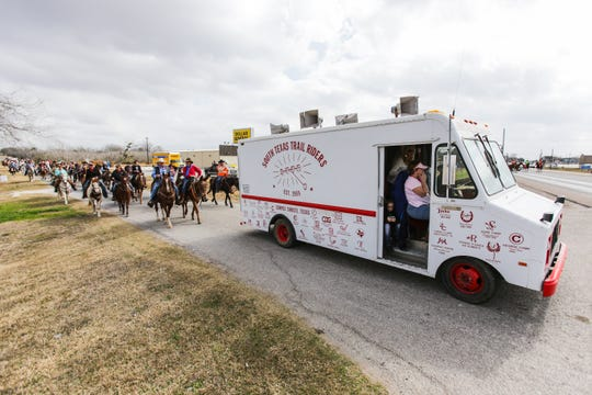 South Texas Trail Riders Inc.'s 55th Annual Trail Ride departs Skidmore, Texas on February 1, 2014.   They are bound for  San Antonio, Texas.