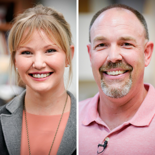 Tasha K. Jones, of Tuloso Midway High School, andRyan Piwetz, of Port Aransas High School, are in the running for statewide recognition and$430,000 in cash prizes from H-E-B.