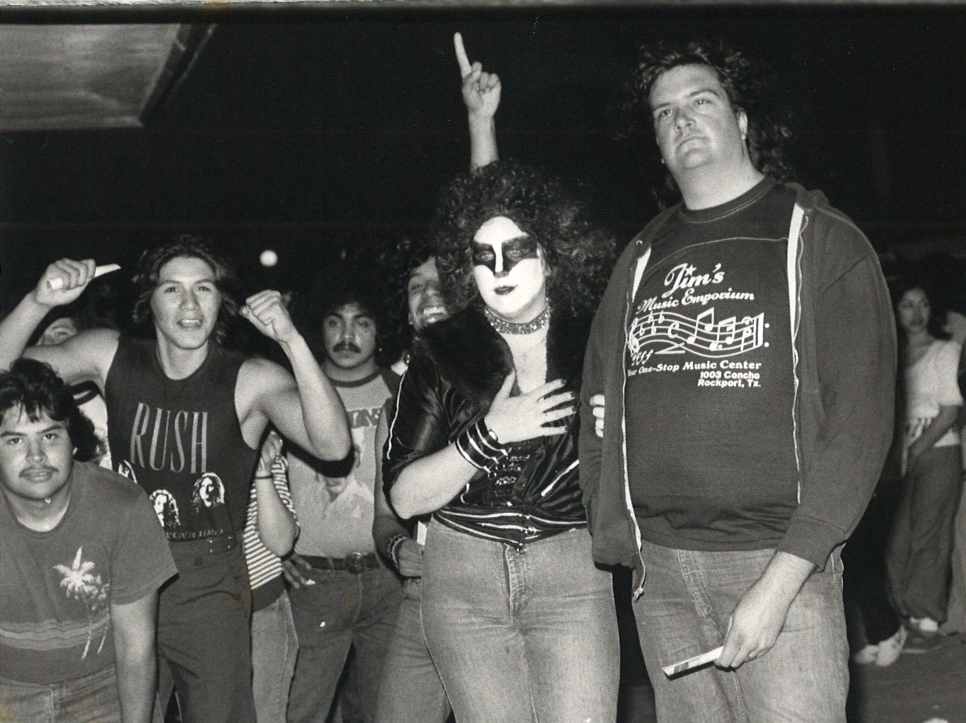 Some fans came in full Kiss regalia for the concert at Memorial Coliseum in Corpus Christi on March 14, 1983.