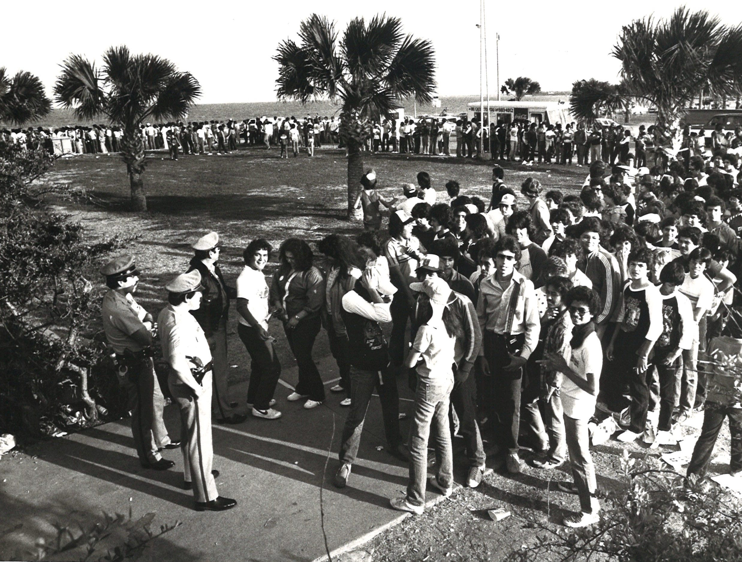 Fans lined up early for the Kiss concert on March 14, 1983 at Memorial Coliseum in Corpus Christi to snag good seats. About 6,500 people attended the sold-out concert.