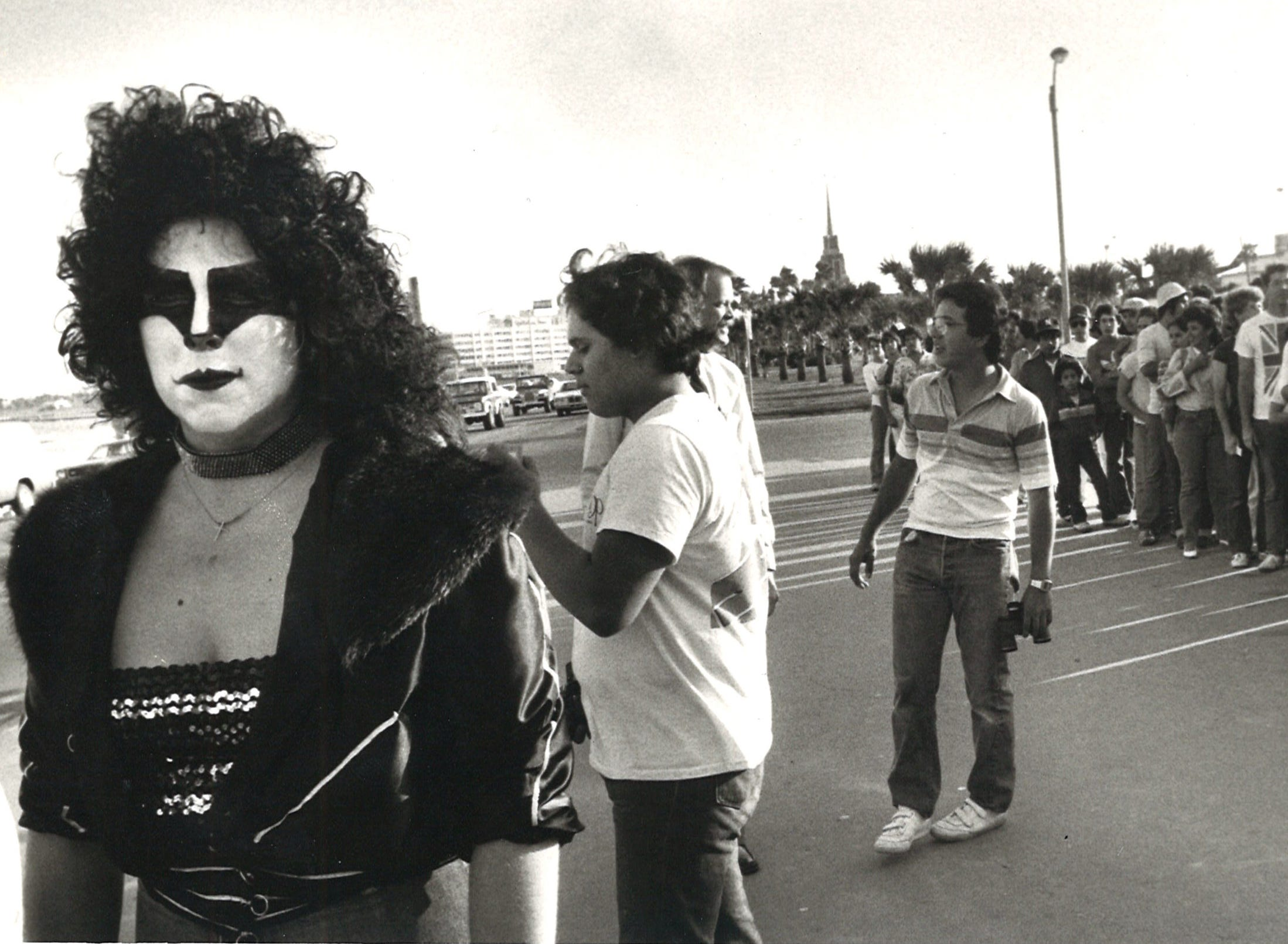 Kiss fans showed up for the March 14, 1983 concert at Memorial Coliseum in Corpus Christi dressed to impress.
