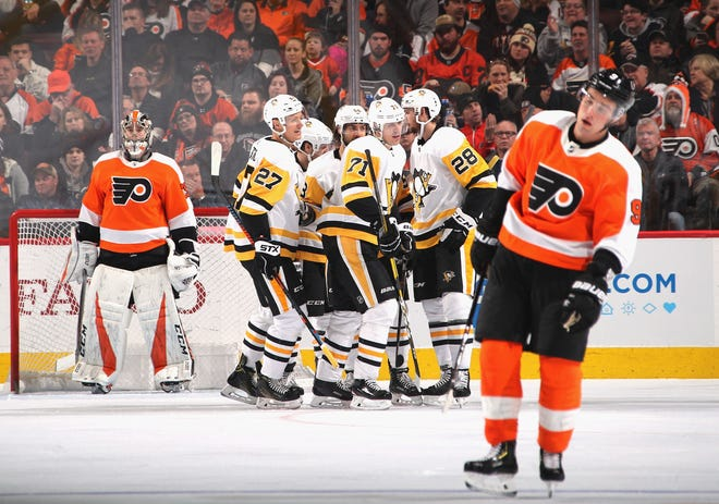 The Flyers could have cut the playoff deficit down again, but instead they're two more points behind the Penguins for the last playoff spot.