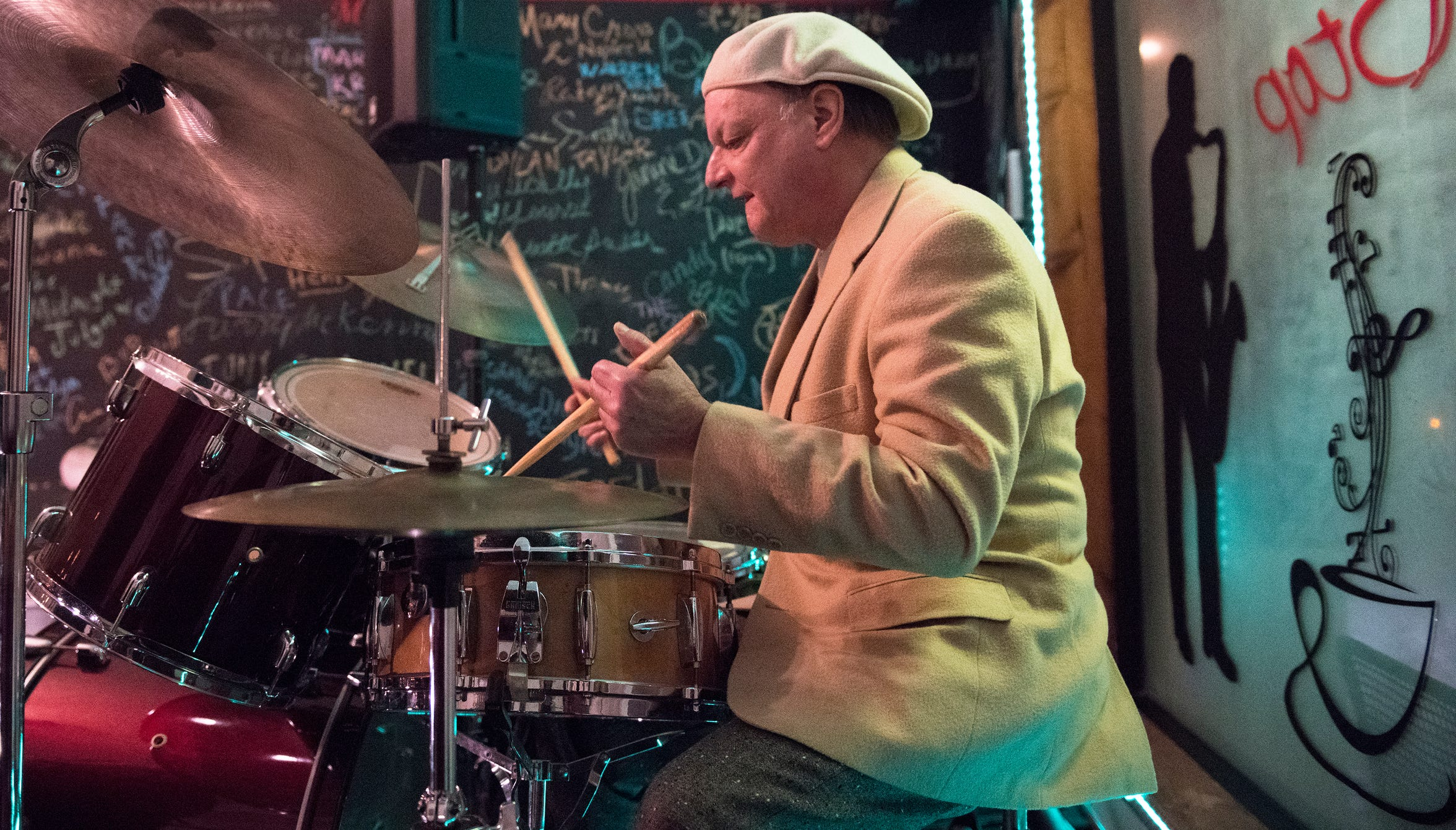 Jazz musician Jim Kaufmann of Atlantic City performs at the May the Jazz Never Stop Jazz Cafe in Haddon Heights.