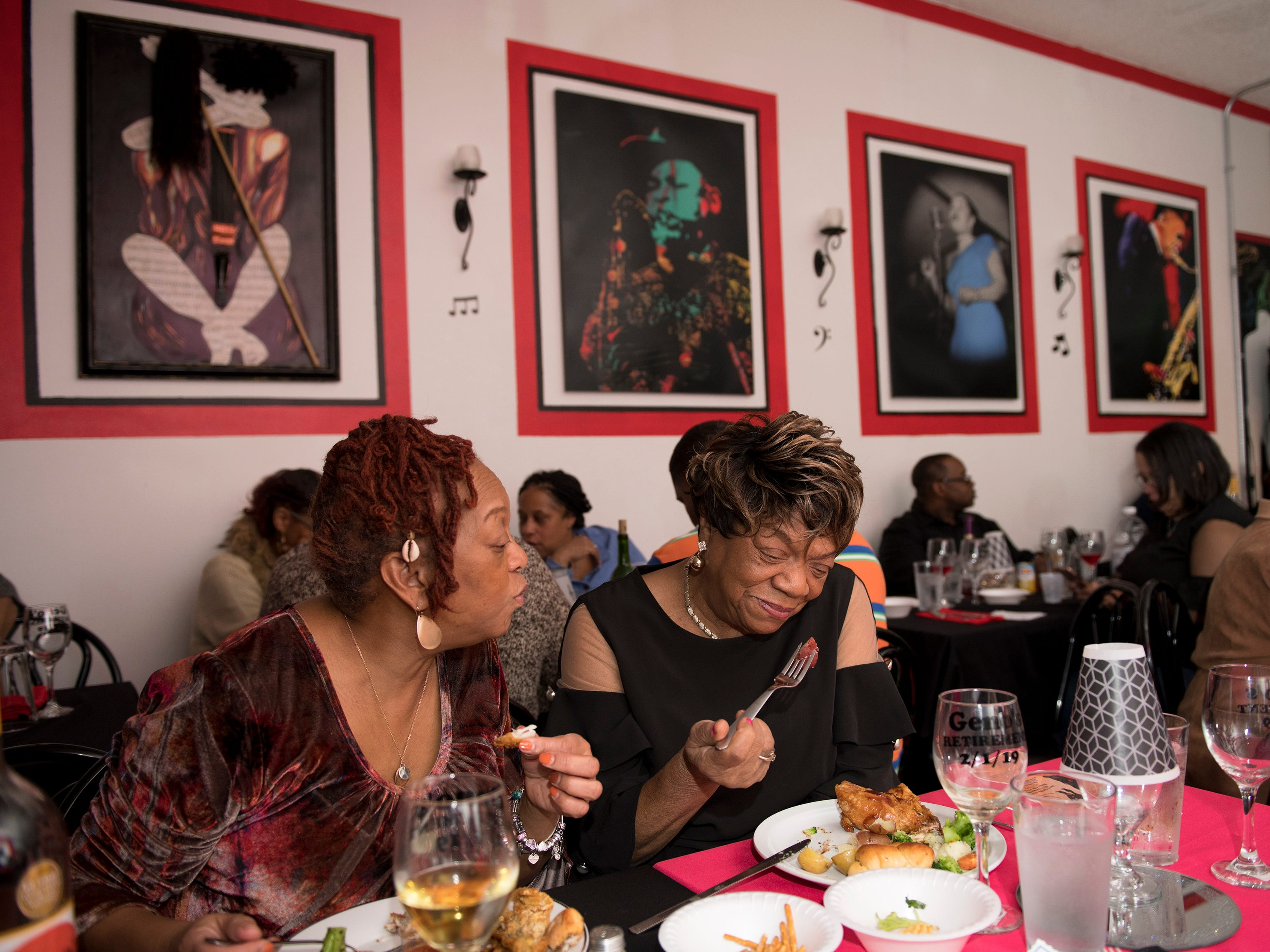 Patrons dine at May the Jazz Never Stop Jazz Cafe in Haddon Heights.