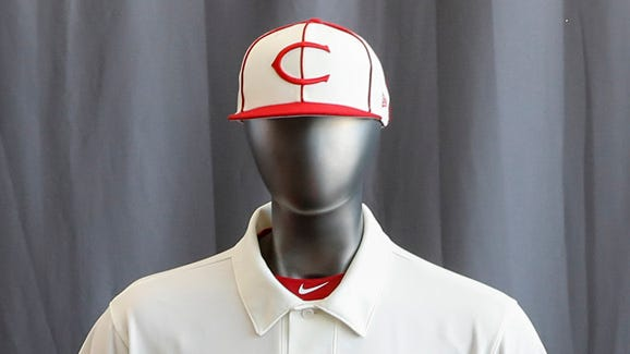 """Check out the entire Cincinnati Reds baseball team uniform lineup for the 2019 season. The Reds will play games in 15 sets of throwback uniforms, including navy blue and a """"Palm Beach"""" style, during a season-long celebration of the 1869 Red Stockings who pioneered professional baseball."""