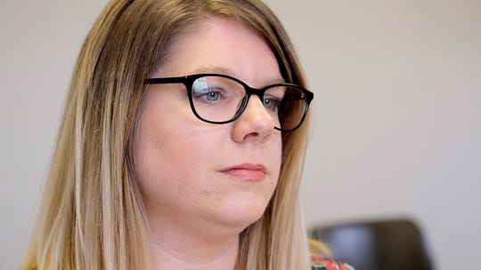 Becky Campana, 32, Child Protective Caseworker, talks about her experiences on the job and the way it has effected her life at home at the Warren County Children Services office in Lebanon, Ohio, on Monday, Feb. 4, 2019.