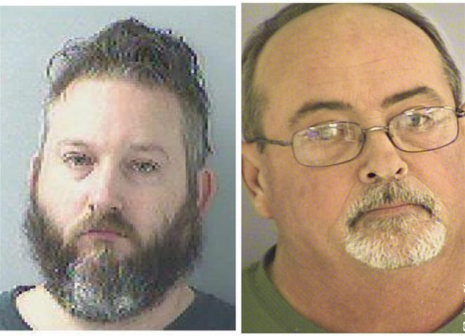 Ryan King, left, and Randy Goodman, right, were indicted by a federal grand jury on charges of conspiracy to possess a destructive device in violation of the National Firearms Act and possession of an unregistered device.