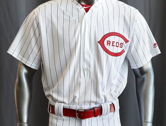 "The Reds will play games in 15 sets of throwback uniforms, including navy blue and a ""Palm Beach"" style, during a season-long celebration of the 1869 Red Stockings who pioneered professional baseball."