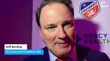 FC Cincinnati President and GM Jeff Berding and Majority Owner Carl Lindner III discussed the process that led to the unveiling of FC Cincinnati's first-ever MLS jersey Monday night at Music Hall in Over-the-Rhine.