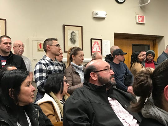 Academy commuters voiced their concerns to borough officials and Sen. Joseph Vitale about discontinued service.