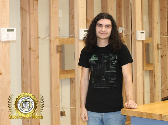 Hunter Kornacivich, the Jan. 2019 student of the month at Somerset County Vocational & Technical High School.