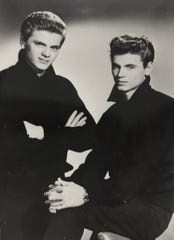 The Everly Brothers: Phil, left, and Don Everly lived in Shenandoah, Iowa, before they become pioneers of rock-n-roll in the 1950s.