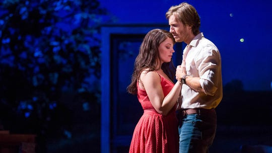 "The Bridges of Madison County: Elizabeth Stanley and Andrew Samonsky starred in the national tour of the musical ""The Bridges of Madison County"" in 2015."""