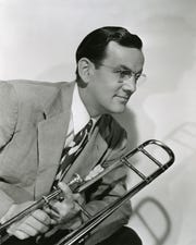 Glenn Miller: Glenn Miller of Clarinda strikes a pose in this studio portrait from the 1950s.
