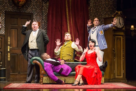 """In """"The Play That Goes Wrong,"""" misfortune comes calling on a theater company as it attempts to stage a 1920s murder mystery."""