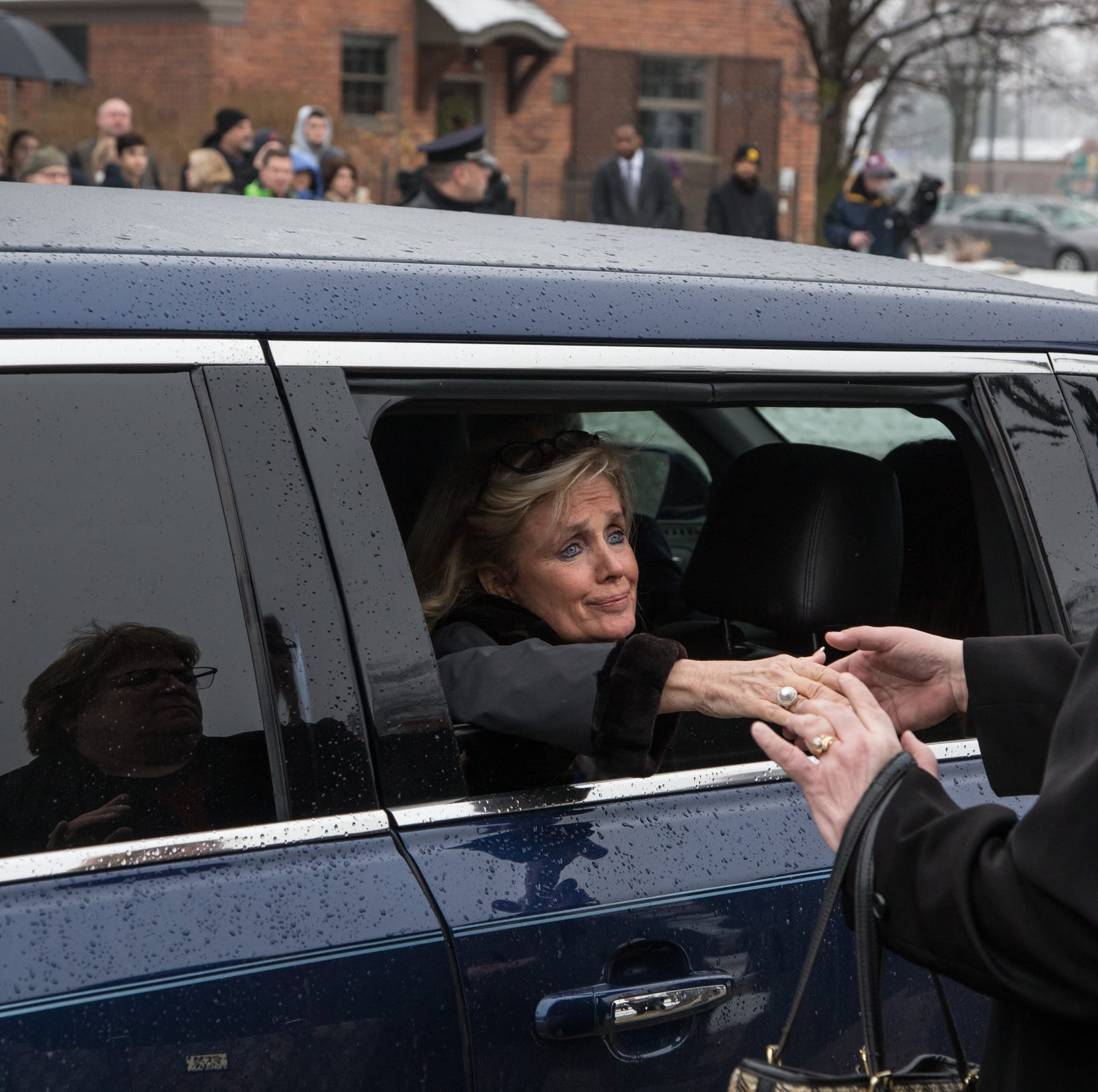 Emotional Debbie Dingell offers thanks, reflections after husband's burial