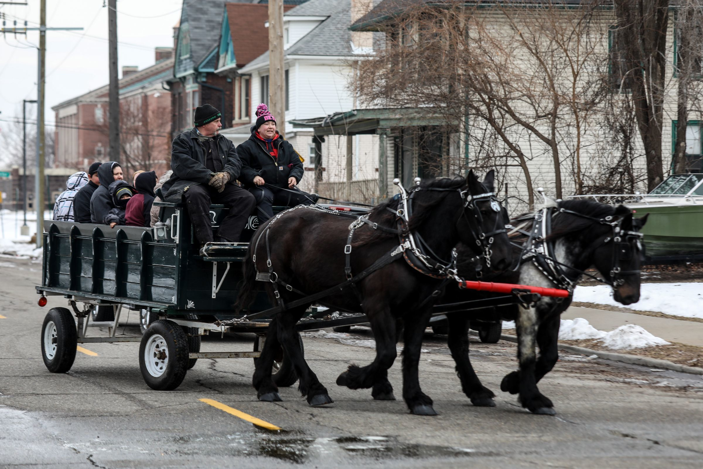 Horse-drawn carriage rides will be part of the winter carnival fun in Clark Park on Saturday.