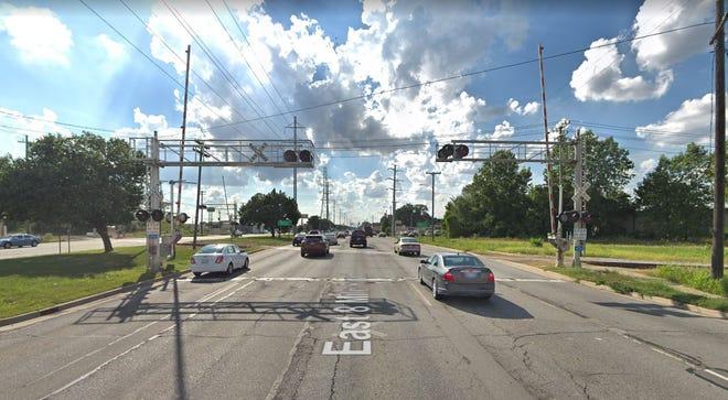 Train tracks on 8 Mile near Groesbeck in Warren.