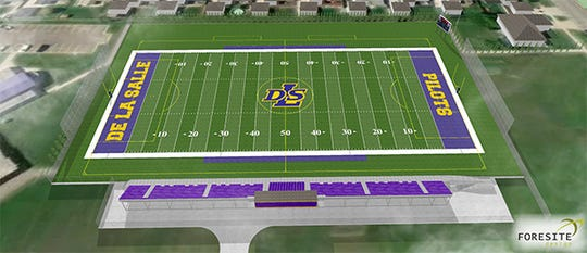 A rendering of the new planned athletic facility at Warren De La Salle.