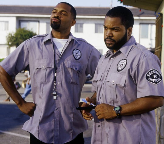 "Mike Epps, left, with Ice Cube in ""Friday After Next."""