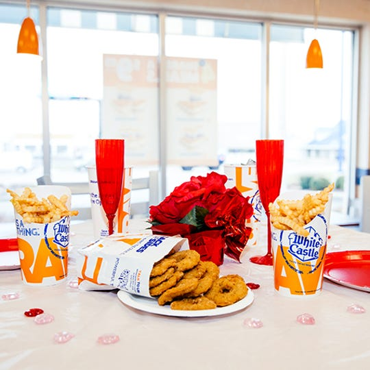 White Castle locations will be festively decorated for Valentine's Day.