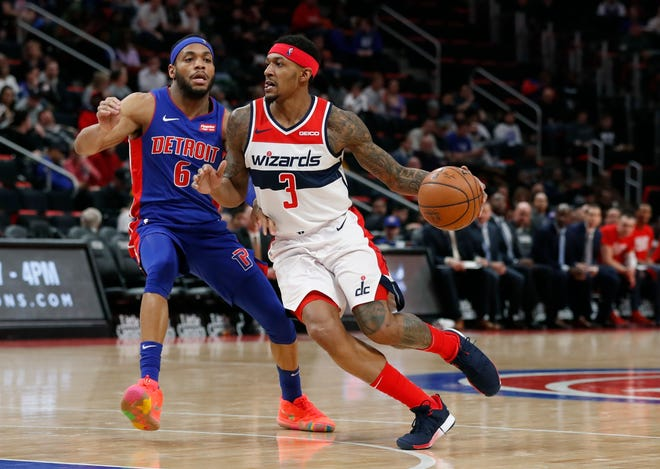 Wizards guard Bradley Beal was involved in a controversial no-call in Monday's loss to the Pistons.