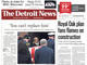 The front page of the Detroit News on Tuesday February 12, 2019
