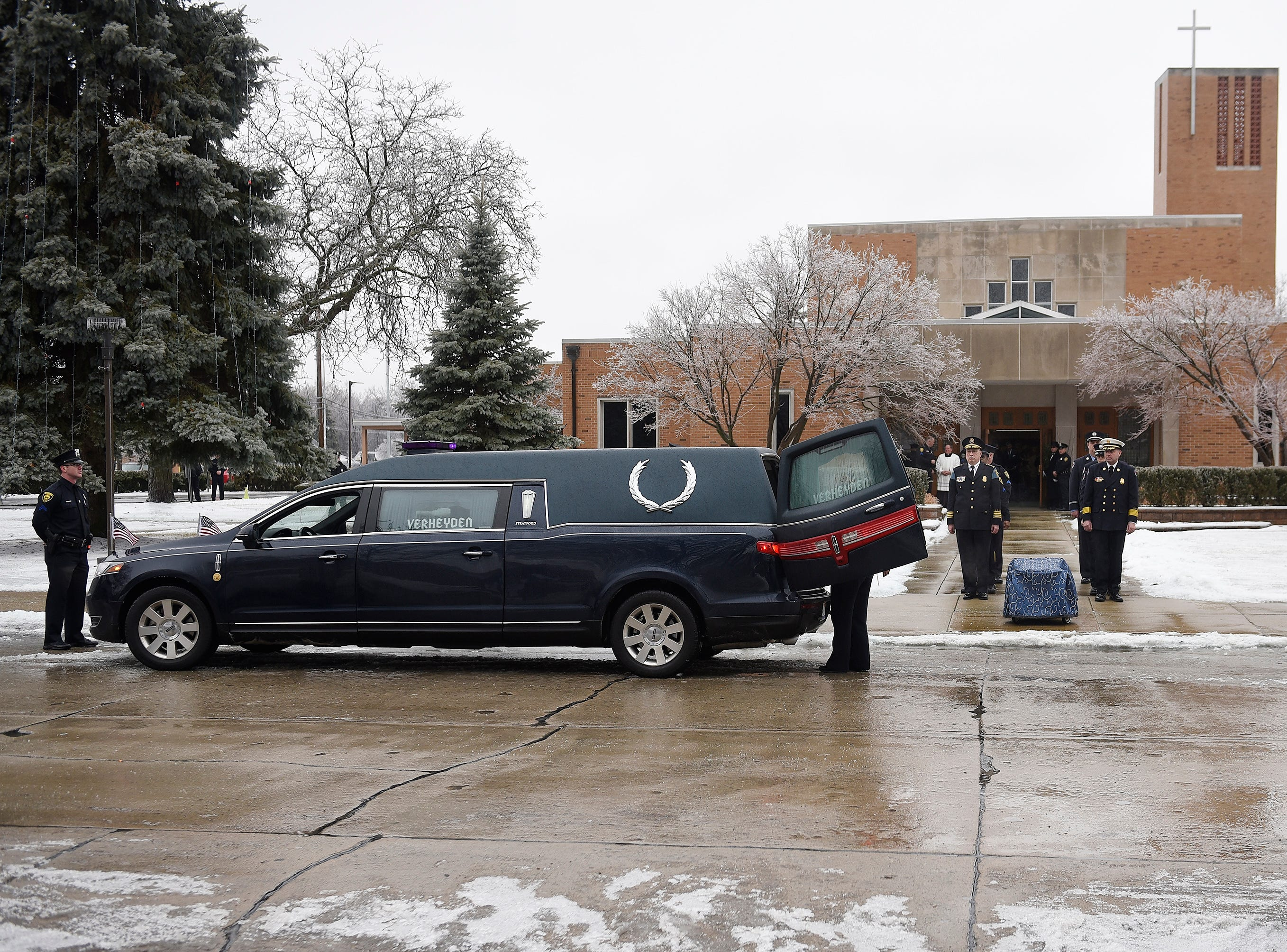 Pallbearers from the City of Dearborn first 
