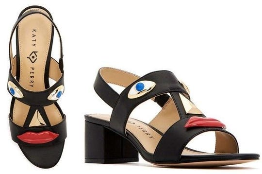 Katy Perry's fashion line has pulled two types of shoes after some people compared them to blackface. The Ora Face Block Heel and Rue Face Slip-On Loafers were released last summer in nine different colors. They included protruding eyes, nose and red lips.