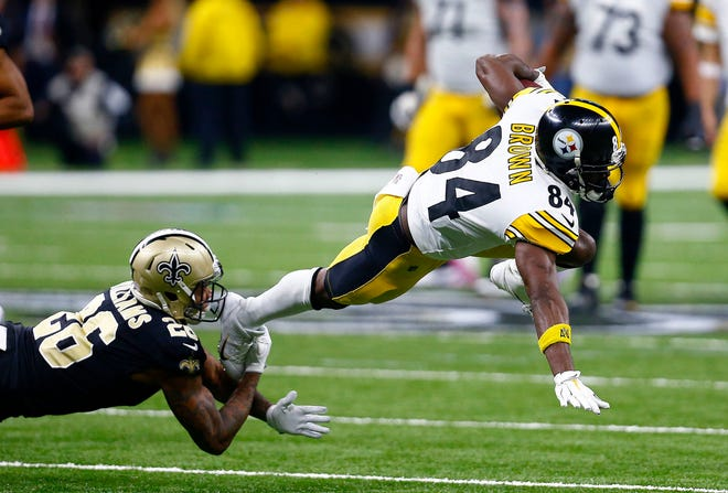 Antonio Brown, who will turn 31 in July, has been with the Steelers for nine seasons.