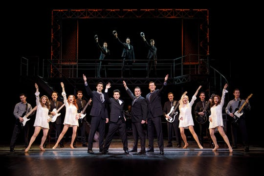 Eric Chambliss, Jonny Wexler, Corey Greenan, Jonathan Cable and the Company of 'Jersey Boys' perform the musical's finale.