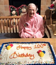 Betty Hayduk, a resident at Woodbrook Assisted Living Facility in Elmira, recently celebrated her 100th birthday.