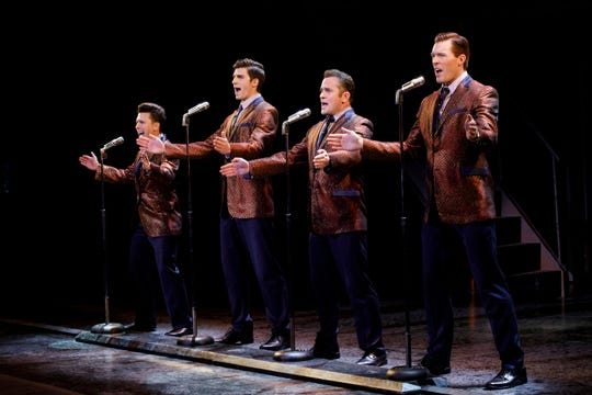 Jonny Wexler, Eric Chambliss, Corey Greenan and Jonathan Cable portray The Four Seasons in the hit musical 'Jersey Boys.'
