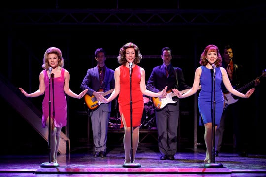 From left: Ashley Bruce, Chloe Tiso and Jessica Wockenfuss perform in the touring company of 'Jersey Boys.'